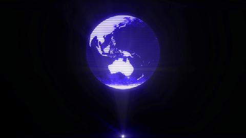 Earth hologram world holographic sci-fi projector futuristic tech glitch loop 4k Footage