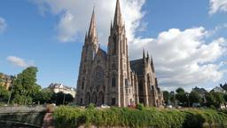 St. Paul's Church Strasbourg France Footage
