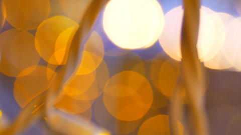 Abstract background with shining yellow bokeh sparkles Footage