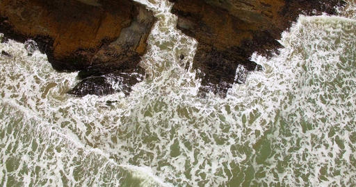 Aerial view of waves in the sea 4k Footage