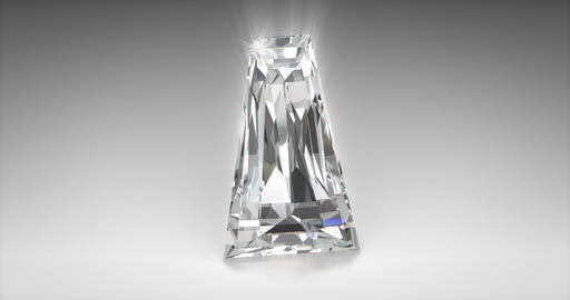 Tapered Baquette Cut Diamond Animation