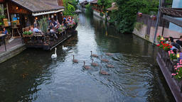 Colmar France: August of 2018 . One of the canals in the city of Colmar France Archivo