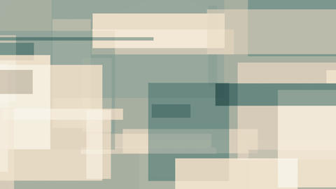 Cyan and light brown rectangles, abstract motion background Live Action