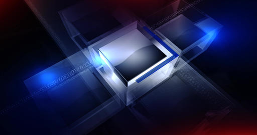Digital cube bg CG動画