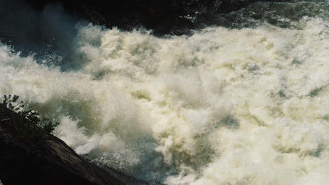 Water stream at Hydroelectric power station dam Footage