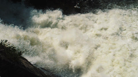 Water stream at Hydroelectric power station dam Stock Video Footage