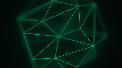 Abstract polygonal solid. 3D graphics related motion background Live Action
