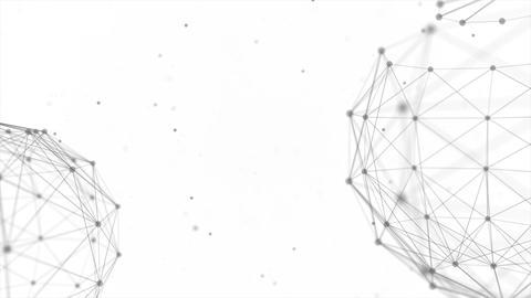 Earth Globe Network Rotating With Plexus Digital Connections loop Footage