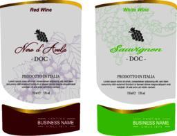 Set of Vector wine label Vector