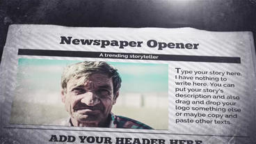 Newspaper Opener Premiere Pro Template