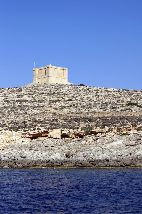 Saint Mary tower in Comino Fotografía