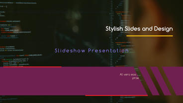 Stylish Design Presentation After Effects Template