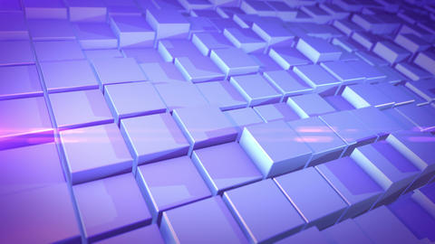 3D design cubes in pressed and unpressed state 애니메이션