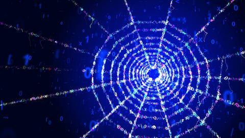Celeste Web Portal in Blue Cyberspace Animation
