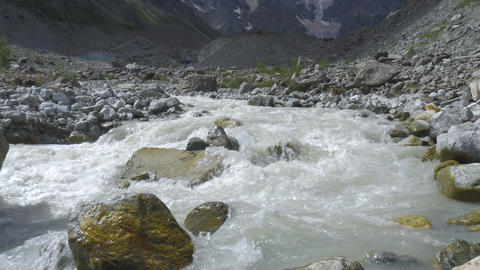 A beautiful mountain river Footage