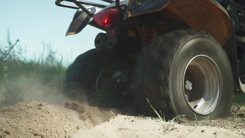 ATV skids in the sand Footage