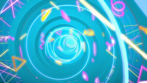 Circle Helix 03 4K CG動画素材