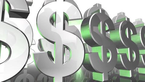 dollar sign money currency bank icon 3d cartoon illustration animation Animation