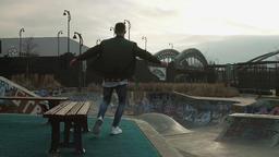 Upbeat Street Dance Near Skatepark Footage