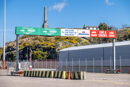 Holyhead / Wales - April 30 2018 : The border control is ready for passengers フォト