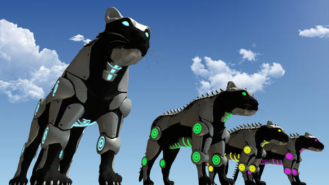 Machine technology panthers 3D rendering Photo
