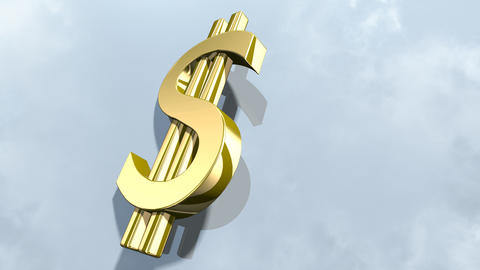 Shiny dollar money sign. 3d rendering フォト