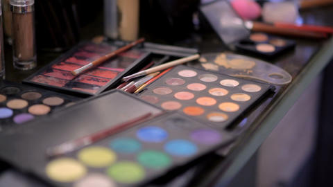 magical cosmetics in the make-up salon Footage