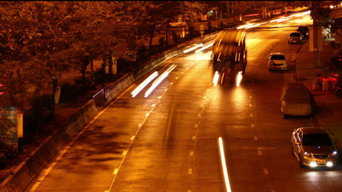 Time lapse cars at night Footage