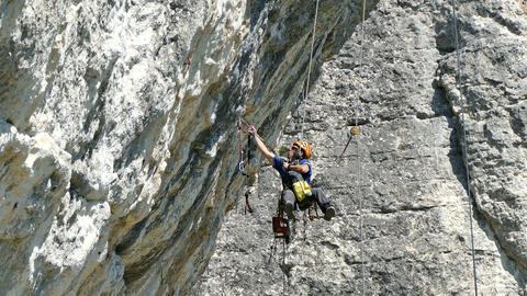 Climber Inspection and Preparation of Clifs to Competition Footage