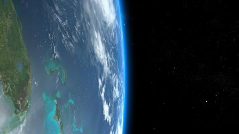 Florida, Bahamas, Caribbean, Cuba. Earth From Space Stock Video Footage