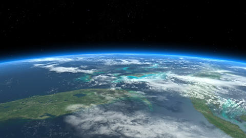 Florida, Bahamas, Caribbean, Cuba. Earth From Space Animation