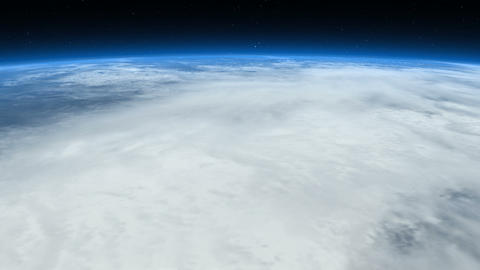 From clouds to space. Earth From Space Animation
