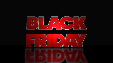 Black Friday Mega Sale 3D Text Looping Animation Footage