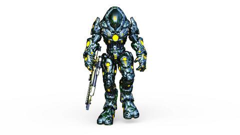 Robot Walk CG動画
