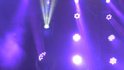 Variety of Stage Lights Glowing, Spinning. and Blinking Footage