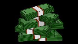stacks of money Sketch illustration hand drawn animation transparent Animation