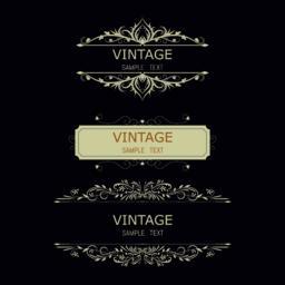 Vintage Decorations Elements. Flourishes Calligraphic Ornaments and Frames. Vector