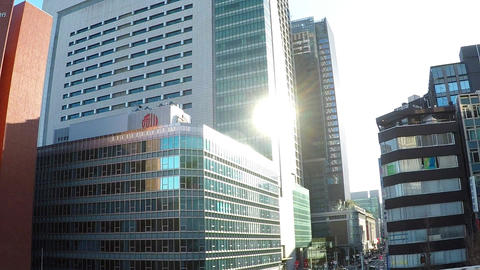 Japanese cityscape. Capital highway, a car window near Otemachi ビデオ