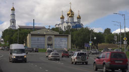 Diocesan Spiritual Center, Holy Trinity Orthodox Cathedral of Petropavlovsk City Footage