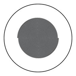 Spiral icon black color in round circle ベクター