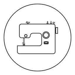 Sewing machine icon black color in round circle ベクター