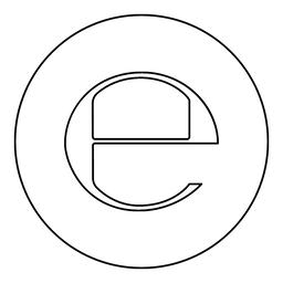 Estimated sign E mark symbol e icon black color in round circle ベクター