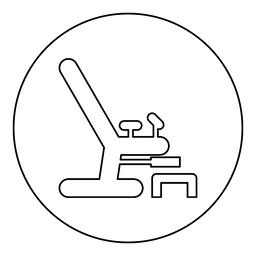 Gynecological chair icon black color in round circle ベクター