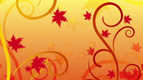 Floral Filigree Autumn Animation