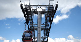 Giant Hoist Line Way Line Mechanism at the Marvelous Bad Gastein in the Alps Footage
