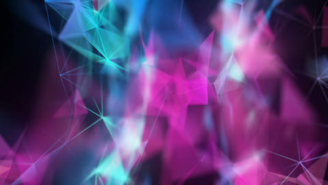 Abstract Bright Futuristic Polygonal Lines Connections Motion Background Animation