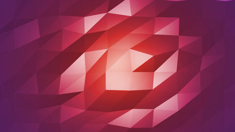 Red Polygonal Geometric Slow Surface Motion Background Animation
