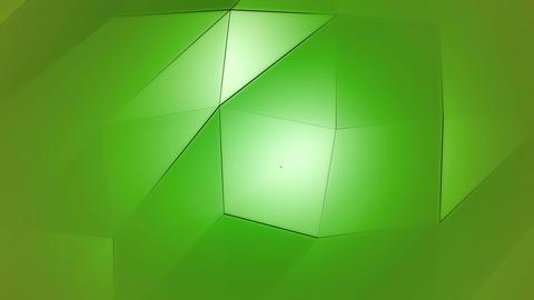 Green Polygonal Geometric Slow Surface Motion Background Animation
