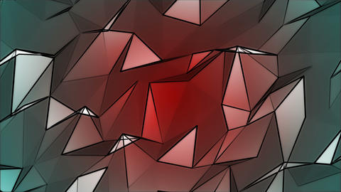 Colored Polygonal Geometric Slow Surface Motion Background Animation
