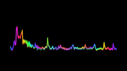 Equalizer Audio Spectrum Colored Level Dynamic Waves On Alpha Channel Animation